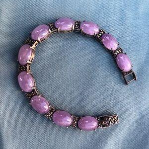 Jewelry - Genuine Purple Jade Bracelet